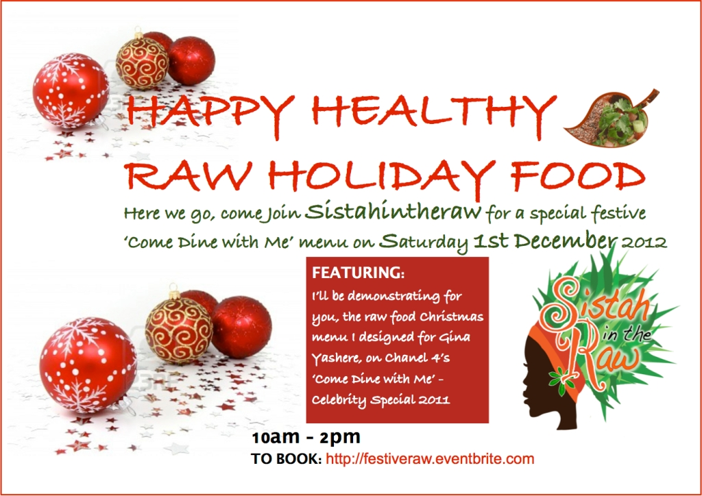 SISTAHINHERAW's HAPPY HEALTHY RAW HOLIDAY FOOD